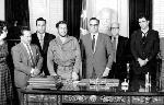 Poster Photo noir et blanc de Ernesto Che Guevara avec des diplomates