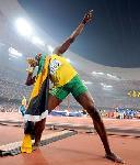 Photo Usain Bolt fête sa victoire