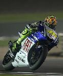 Photo Valentino Rossi sur Yamaha en moto GP
