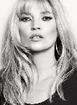 Poster photo noir et blanc de Kate Moss