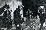 Poster photo Johnny Hallyday noir et blanc
