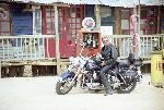 Poster photo Johnny Hallyday harley