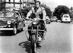Poster photo de jean-Paul Belmondo en noir et blanc