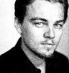 Poster Photo Leonardo dicaprio en noir et blanc