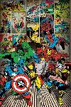 Poster de la bd Marvel Heroes