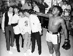 Photo des Beatles with Mohamed Ali