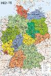 Affiche de la carte de L'Allemagne
