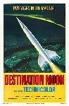 Affiche ancienne publicité : destination la lune