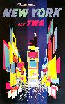 Affiche ancienne TWA New York