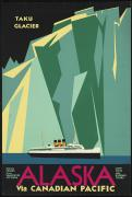 Affiche ancienne Canadian pacific alaska