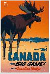 Affiche ancienne Canada for Big Game
