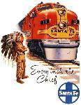 Affiche ancienne publicité Every Inch the Chief, Santa Fe