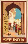 Affiche ancienne publicité See India