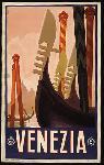 Affiche ancienne publicité Venezia, Venice Italy