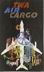 Affiche publicitaire vintage TWA Air Cargo