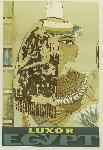 Affiche publicitaire vintage Luxor Egypt