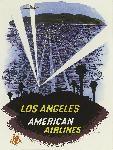 Affiche publicitaire vintage Los Angeles, American Airlines