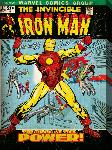 Impression sur toile Iron Man pochette BD