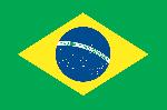 Sticker adhésif drapeau du brésil