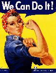 Affiche publicité vintage guerre We Can Do It! Rosie the Riveter