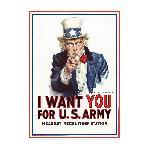 Affiche publicité vintage guerre I Want You for US Army, Nearest Recruiting Station