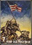 Affiche publicité vintage guerre 7th War Loan, Now... All Together