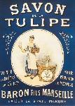 Affiche publicitaire Savon de la Tulipe Baron Fils