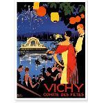 Affiche ancienne de Vichy Fête sur le Lac