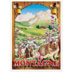 Affiche vintage de la Montagne