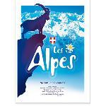 Affiche des Alpes Bouquetin