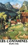 Affiche des Alpes Village de Montagne