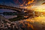 Photo du pont de Budapest en Hongrie