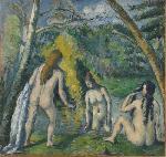 Poster reproduction du tableau de Paul Cézanne les Trois baigneuse