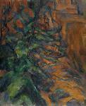 Poster reproduction du tableau de Paul Cézanne Rochers et branches à Bibémus