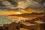 Photo plage en Afrique du Sud coucher de soleil