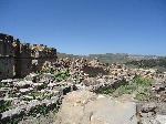 Photo ruine dans le désert d'Algérie