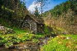 Photo d'un vieu moulin dans la campagne en Allemagne