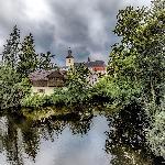 Photo maison sur rivière en Allemagne