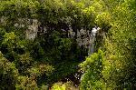 Photo d'une cascade dans les bois en argentine