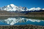 Photo reflet montagne dans un lac en Argentine