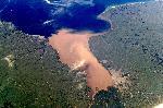 Photo aerienne de Rio de la plata en Argentine