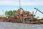Photo épave de bateau en Argentine