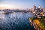 Photo vue de l'opéra de Sydney en Australie