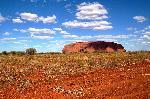 Photo ayers rock dans le désert Australien
