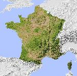 Carte des reliefs en France