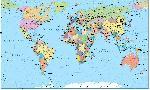 Carte du monde détaillé planisphère