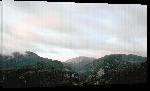Toiles imprimées Levée de brume au matin sur les pyrénées arriegeois.