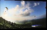 Toiles imprimées Photographie parapente en Auvergne de Denis Pourcher - Puy de dome