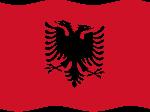 Drapeaux Drapeau de l'Albanie
