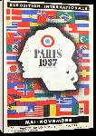 Toiles imprimées Affiche ancienne exposition universelle de Paris 1937